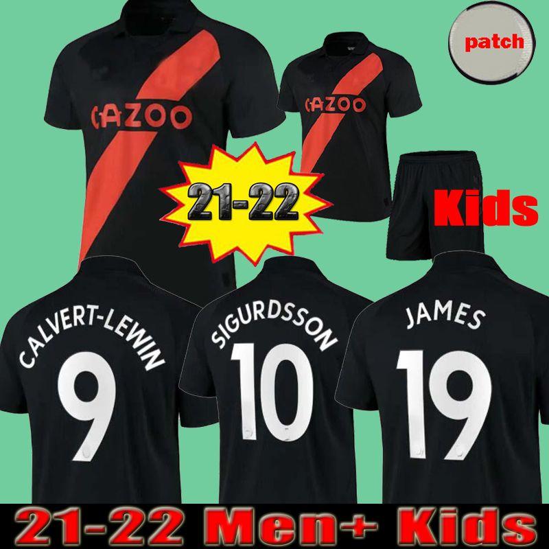 James Rodriguez 2021 2022 Erkekler + Çocuklar Futbol Formaları Sigurdsson Kean Delph Gbamin André Gomes Ev Üçüncü 21 22 Uzakta Siyah Richarlison Futbol Gömlek