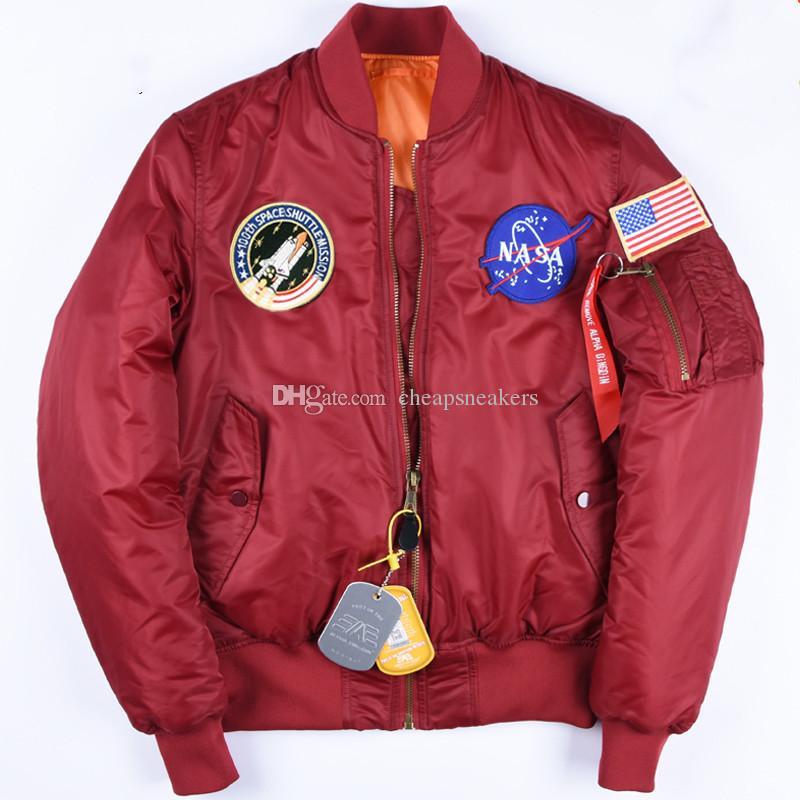 Mäns NASA Astronautjacka Alpha Dingdin Vinter tjock bomullsrock