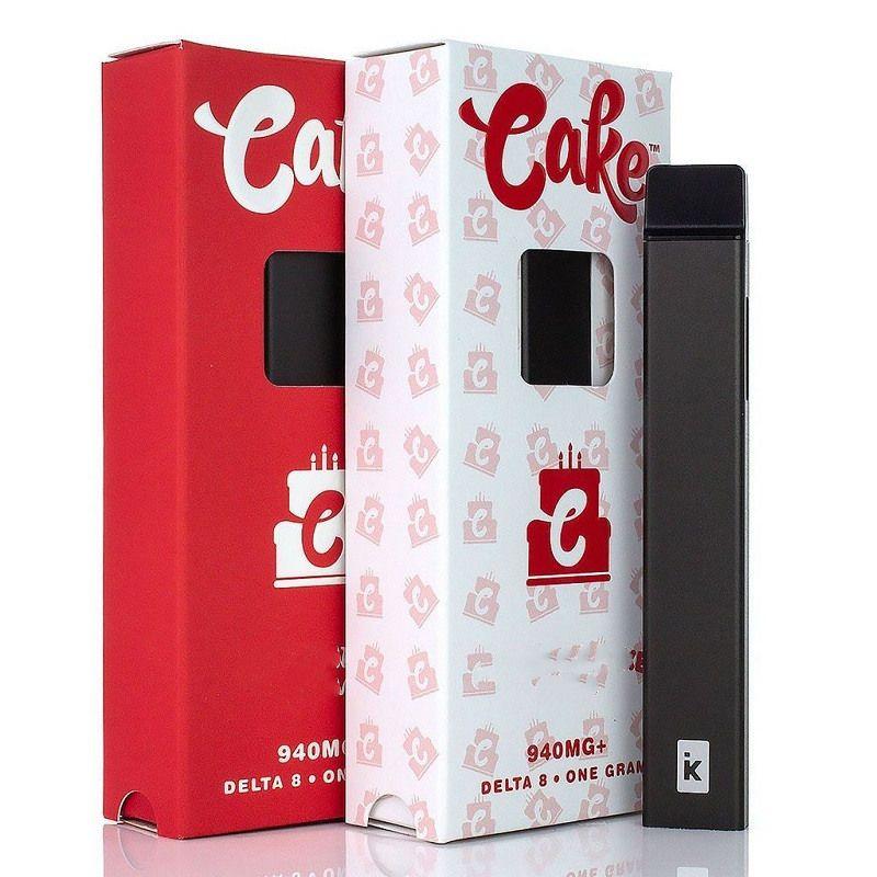 케이크 충전식 델타 8 일회용 vape 펜 전자 담배 장치 1 그램 1.0ml 빈 세라믹 코일 두꺼운 오일 포드 카트리지 280mAh 배터리