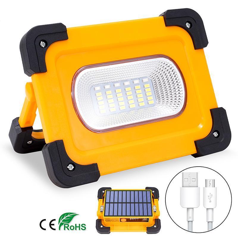 Солнечные лампы Перезаряжаемые 36LED Light USB аварийный портативный прожектор на открытом воздухе предупреждающий лампа для кемпинга DHL