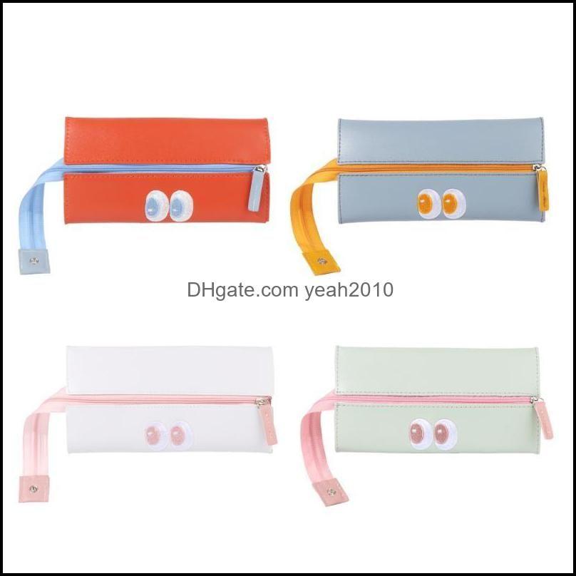 Casos Suprimentos Office Business Industrial20,3 € 10.5cm Dobrável Lápis Caso Simples Moda Cosmética Armazenamento Maquiagem Bolsa Do Zíper Grande Capacit