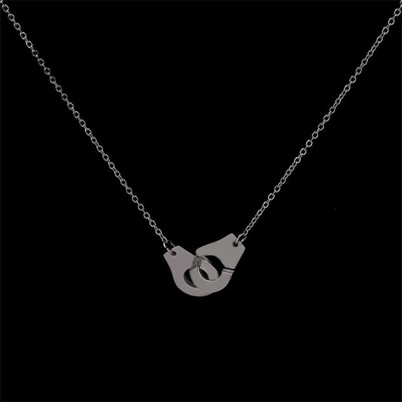 حقيقي 925 الفضة الاسترليني handcuff menottes قلادة قلادة للرجال النساء فرنسا dinh van مجوهرات 64 r2