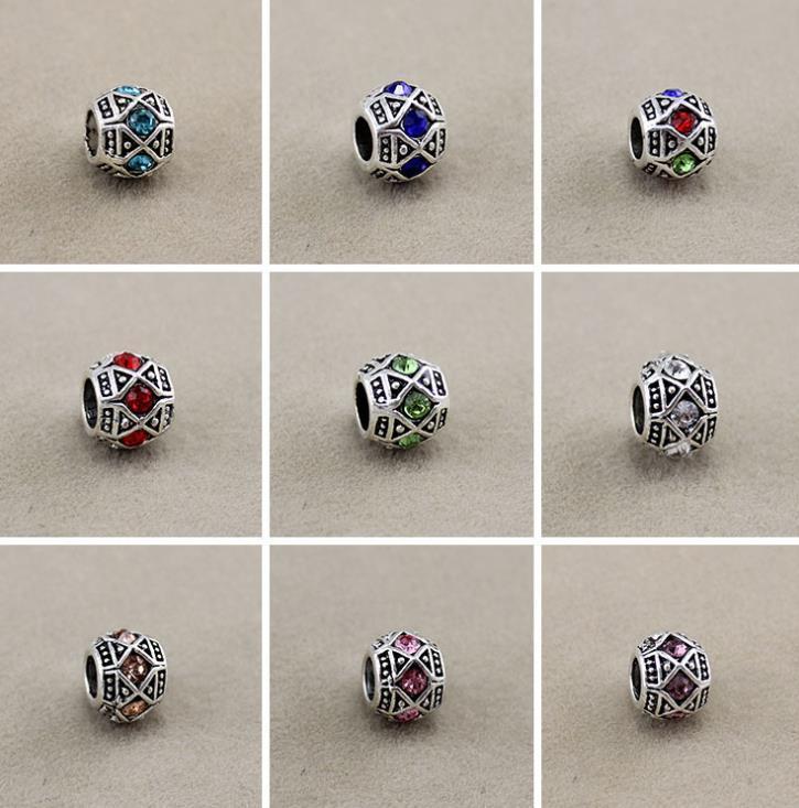 Metalli allentati perline gioielleria marca moda metallo antico sier crystal big hole adatto braccialetti europei diy consegna goccia 2021 x5se0