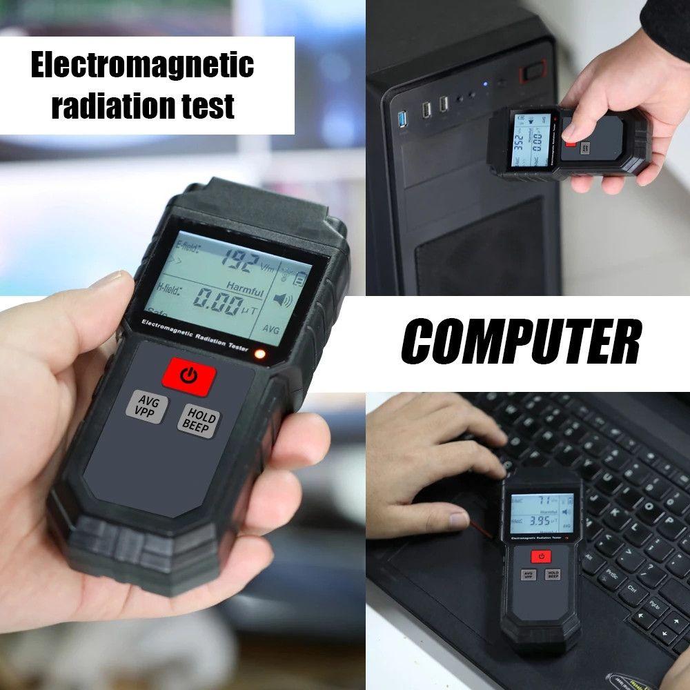 핸드 헬드 디지털 LCD EMF 미터 전자기 방사선 시험기 전계 자기 용지법 검출기