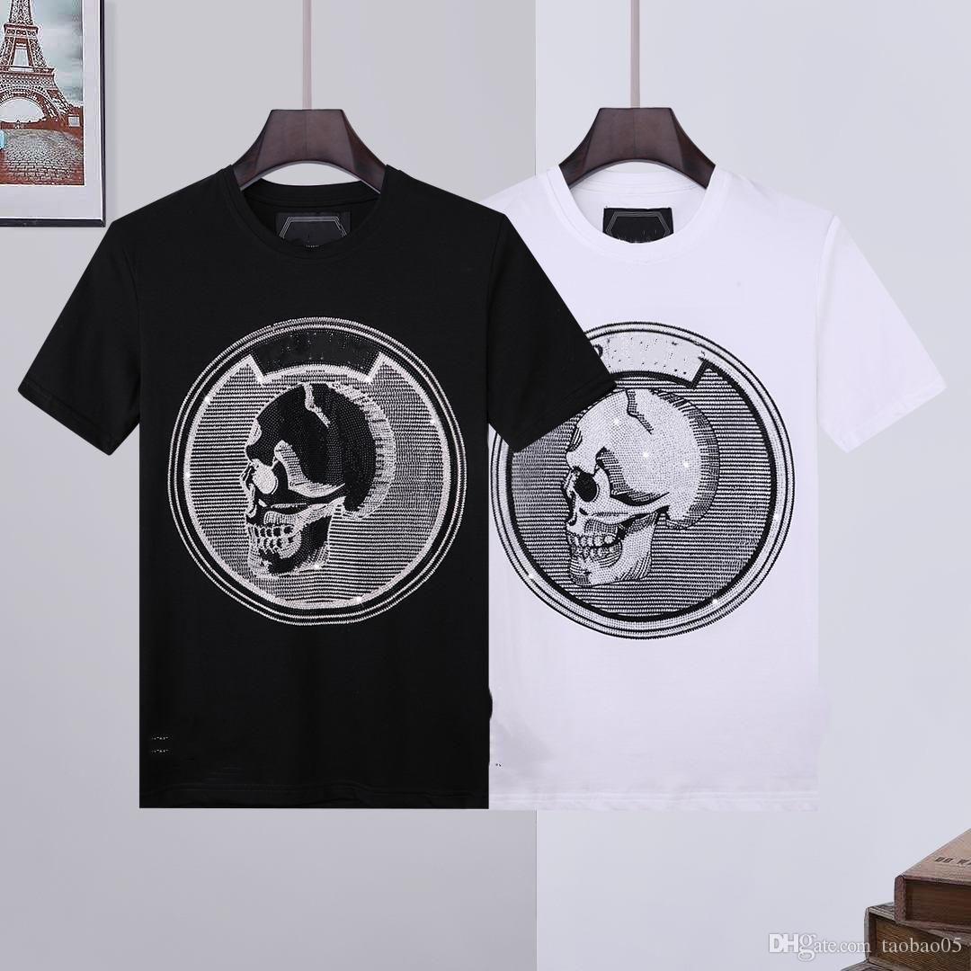 Homens Camiseta Diamond Crânios Mulheres Tees Carta Impresso Casual Verão Respirável Manga Curta Hip Hop Street Tee M-3XL