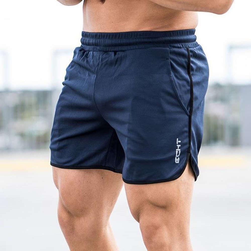 ECHT Muscle Fitness Brothers летние бегущие растягивающие тренировки 5-минутные сухие дышащие мужские шорты