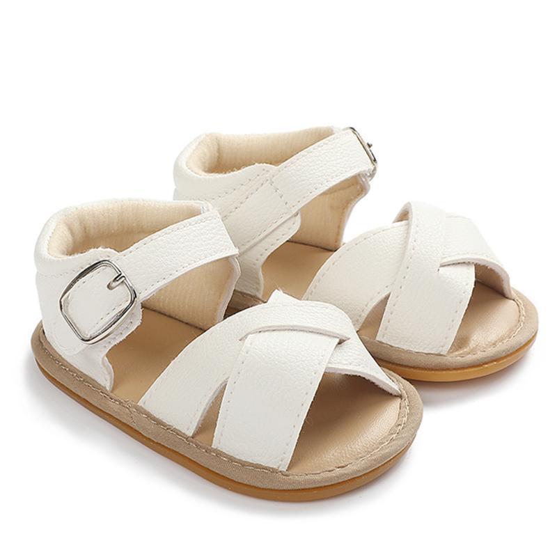 여름 유아 아기 신발 소녀 크로스 로마 샌들 해변 Prewalker 안티 슬립 첫 번째 걷기 Zapatos