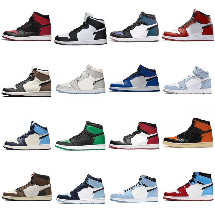 Nike Jordan Air Retro Botas 1 Travis Grey Travis Scotts Oscuro Mocha Obsidian 11s Mens Baloncesto Zapatos 4 4s Navega Blanco Blanco Carreras para mujer K2153 DHX-H155