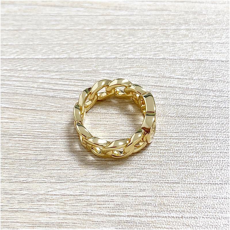 럭셔리 디자이너 링 트위스트 구리 결혼 반지 CD 골드 반지 여성을위한 간단한 패션 사랑 보헤미안 쥬얼리 상자