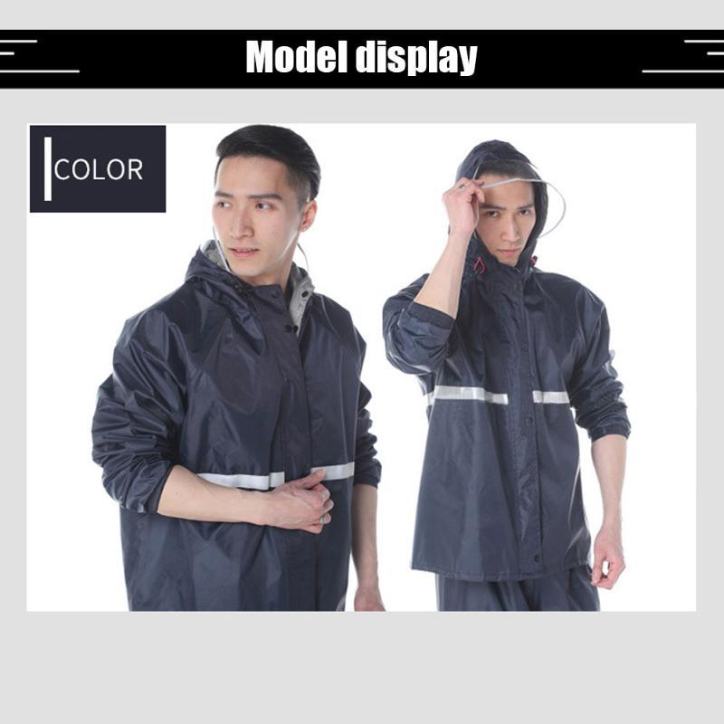 Raincoats Unisex Hooded Raincoat Outdoor Sports Rain Coat Suit Portable Dustproof Cycling Jacket Pants Waterproof Bicycle Elements