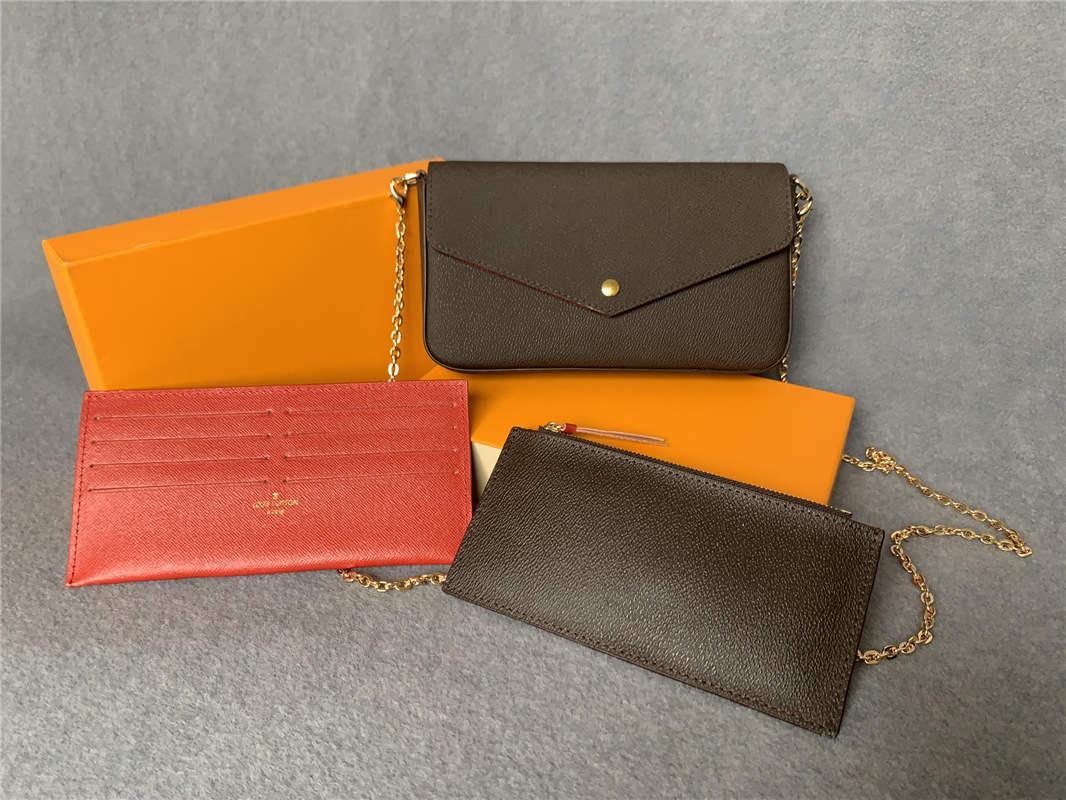 2021 woman Handbags Fashion Lady Messenger Shoulder bag High quality Chain Crossbody bags Tote Wallet Purse 3 piece set