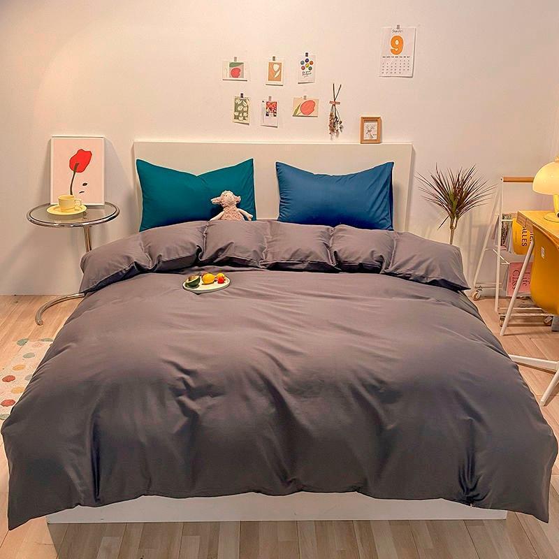 100% algodão cama de camas de edredão conjunto macio, suave, fácil cuidado 1 pc folha plana / montado fronhas gêmeas rainha king size não único conjuntos de cor