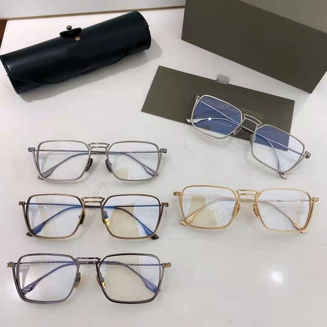 2021 best-selling Sunglass Designer Retro Pure steel eyeglass full frame Rose gold man spuare women radies style