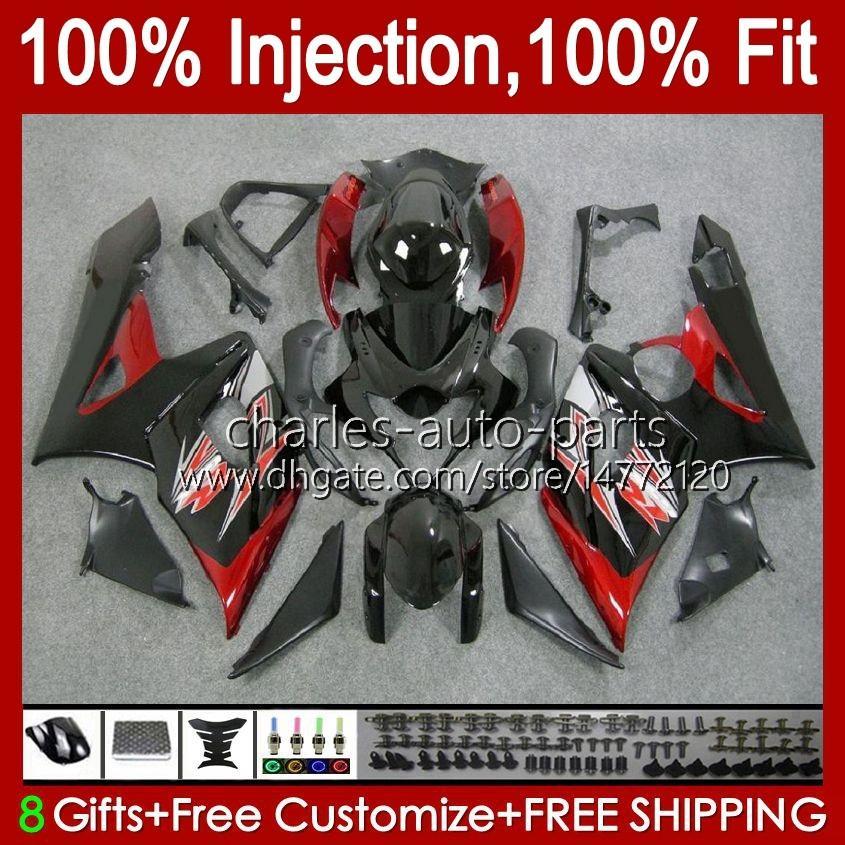 Moule d'injection corporelle pour Suzuki GSXR 1000CC 1000 cc K5 GSXR1000 05 06 Bodywork 11HC.15 GSXR-1000 2006 COWLLING GSX-R1000 GSX R1000 05-06 OEM Catériel Catériel Rouge foncé
