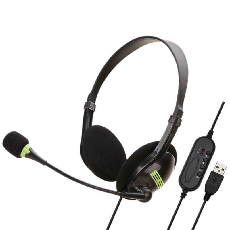 سماعة رأس الهاتف مع ميكروفون إلغاء الضوضاء الكمبيوتر مركز الاتصال سماعات رأس سماعات الرأس