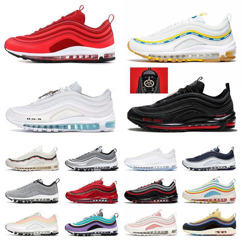 신발 max 97 airmax 97s off white have a day MSCHF x INRI Jesus Worldwide UNDEFEATED UNDFTD 최고 품질의 운동화 남성 여성의 새로운 트레이너 스니커즈