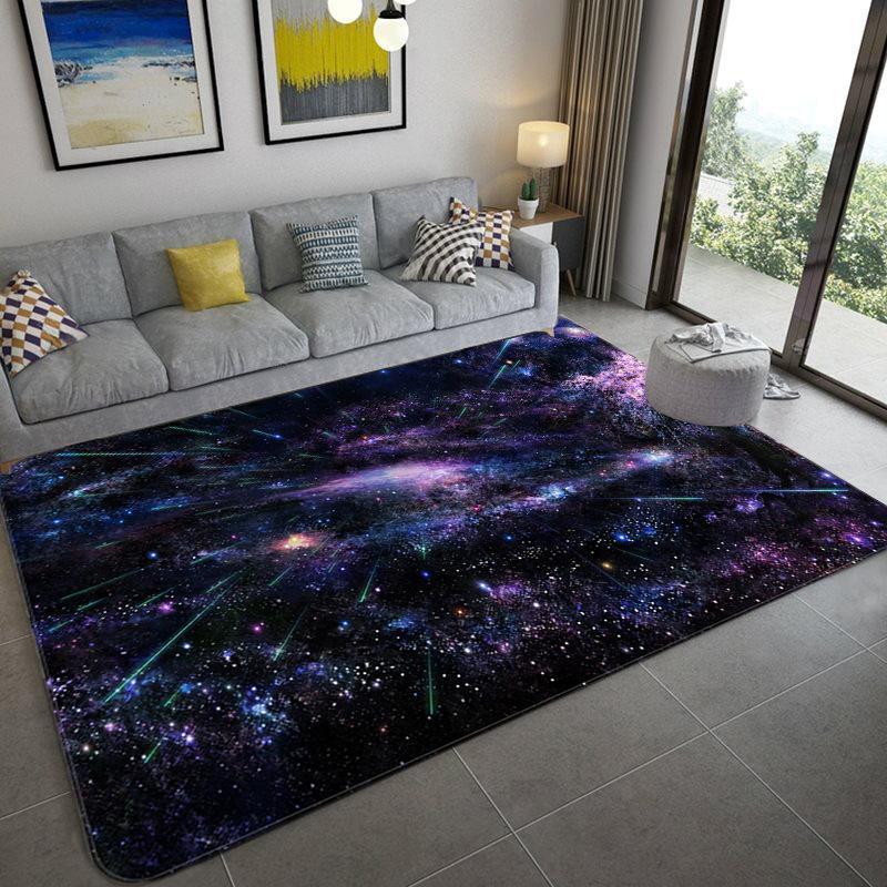 Teppiche Galaxie Raum Sterne Muster Für Wohnzimmer Schlafzimmer Area Teppich Kinderspiel Matte Weiche Flanell 3D Gedruckt Home Teppich groß