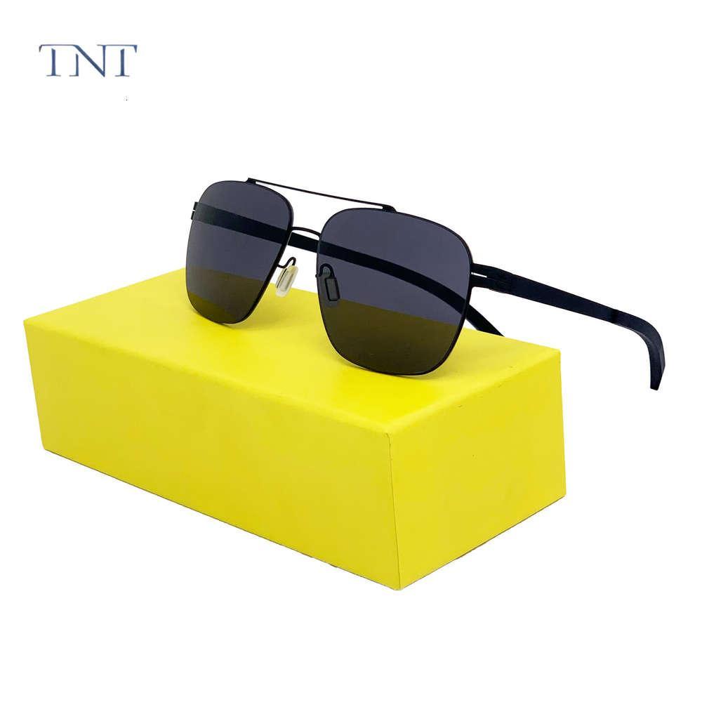 TNT Gafas de sol sin tornillos Gafas polarizadas para hombres Mujeres Viernos Conducción UV400 Outdoor Retro Gafas de sol UV400 OCULOS DE SOL