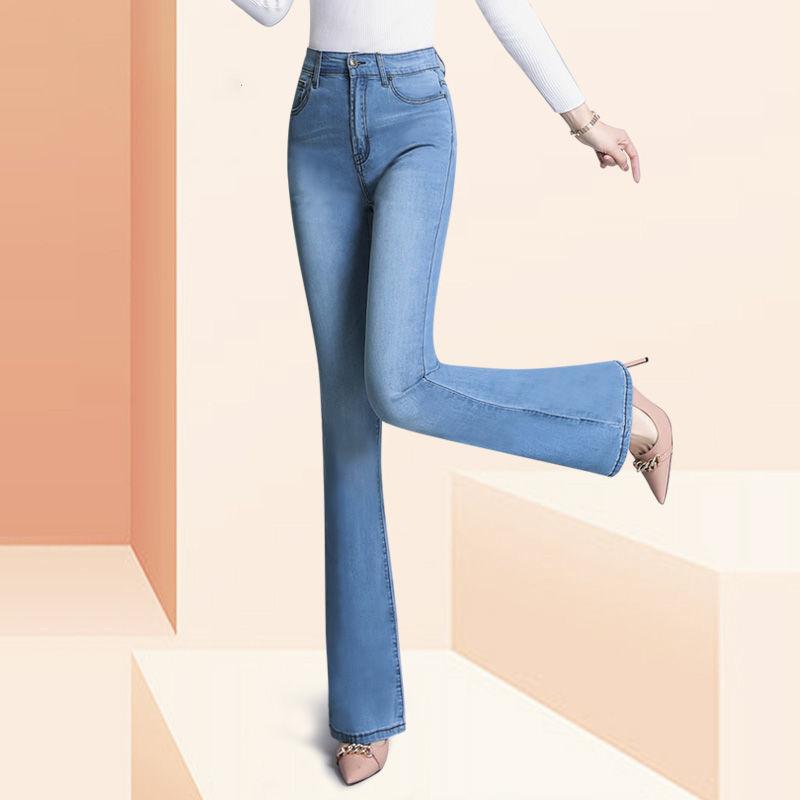 Calças jeans calças altas cintura altas calças femininas outono inverno calças mãe desgaste