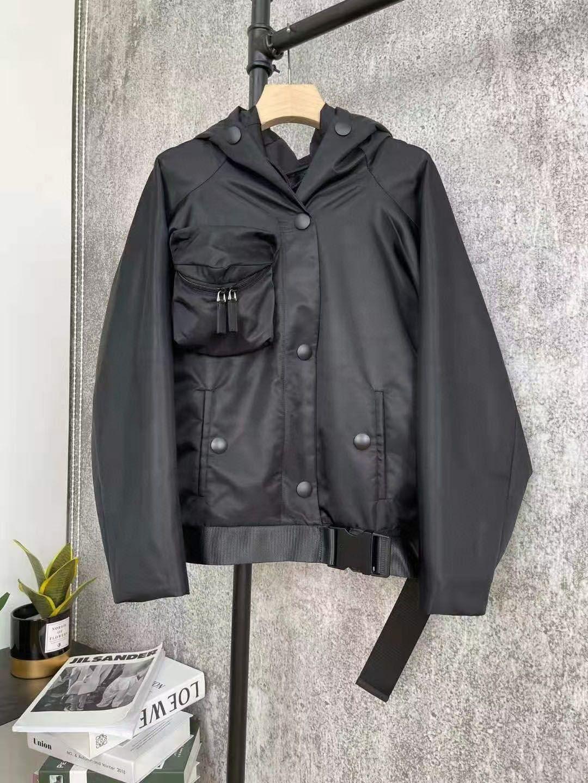 여성 자켓 후드 코트 파크스 봄 가을 스타일 레이디의 복장 재킷을위한 벨트 슬림 코르 셋 포켓 outsize classcia 윈드 브레이커 코트 s-l