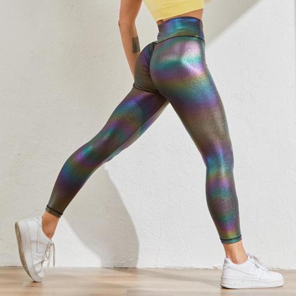 Femme de chrleisure Push Up Leggings Pantalon de remise en forme Perlescent Surface Pantalons Sport Sport High Taille Leggings Seamless Energy Collants