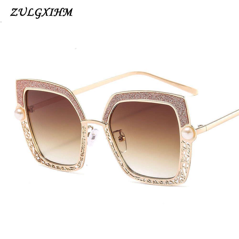 Klassische Vintage Quadratische Sonnenbrille Frau Übergroße Sonnenbrille Frau / Männer Retro Sonnenbrille UV400 Brille