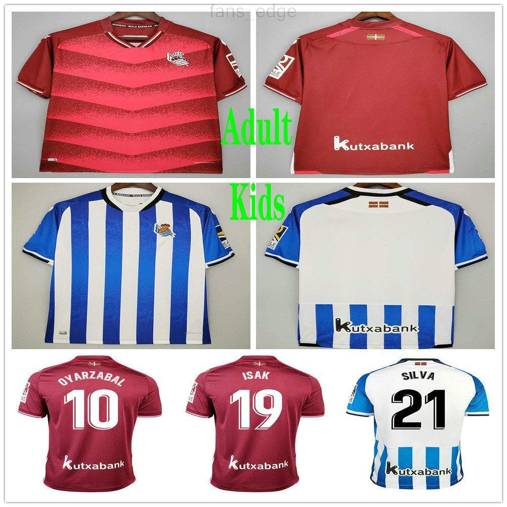 2021 2022 Gerçek Sociedad Futbol Formaları Copa Del Rey Oyarzabal X Prieto Portu David Silva Odegaard Juanmi Özel Ev Uzakta 21 22 Kraliyet Topluluğu Yetişkin Çocuklar Futbol Gömlek