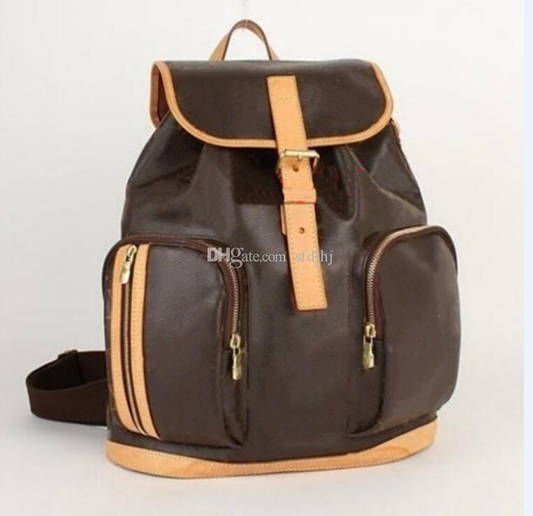 Alta Qualidade Moda Bagagem Bagagem Saco de Viagem Brown Flor Backpacks Sacos da Escola Mulheres e Homens Mochila Unisex Springs Senhora Outdoor Duffle Bolsa Sfdjhj