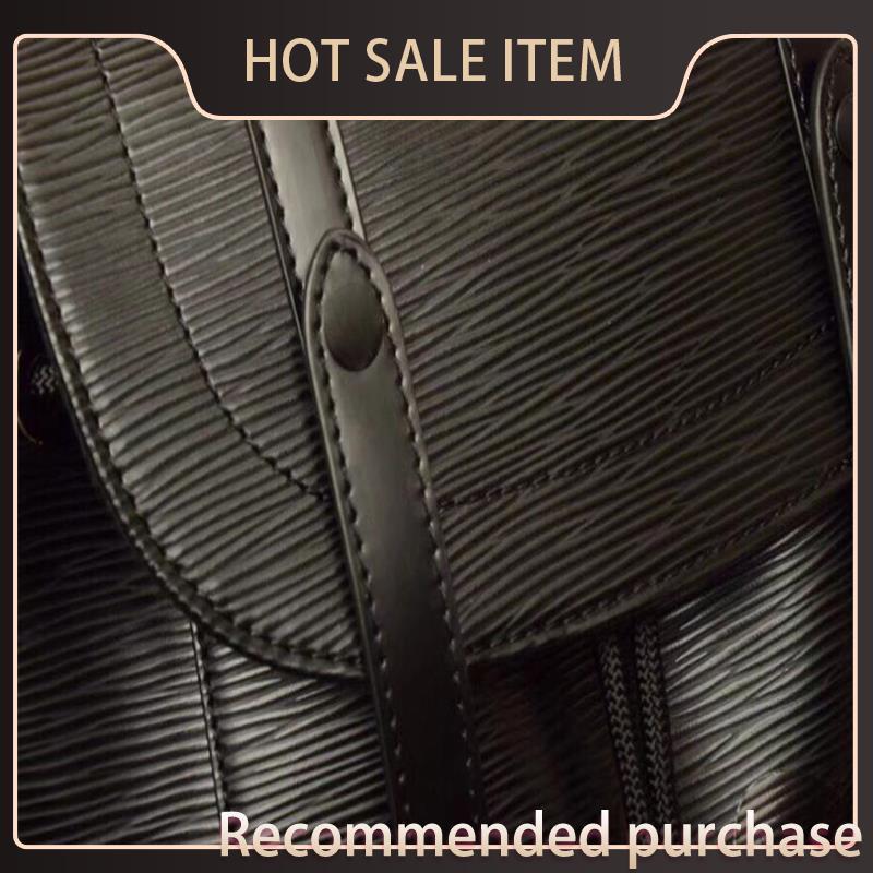 Nouveau Sac à main de sac à dos Vintage Sac à main noir Sac Mens Sac à dos Christopher 41379 Rucksack Schoolbag, sac de voyage à l'épaule XBIQA HHLBU