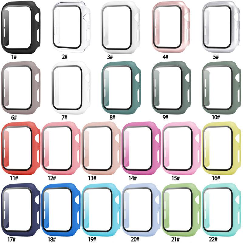 360 Full Cover PC Case 3D Tempered Glass Anti-Scratch Film Screen Protector With Retail Package For Apple Watch Series SE 6 5 4 44mm 40mm iWatch 3 2 1 42mm 38mm