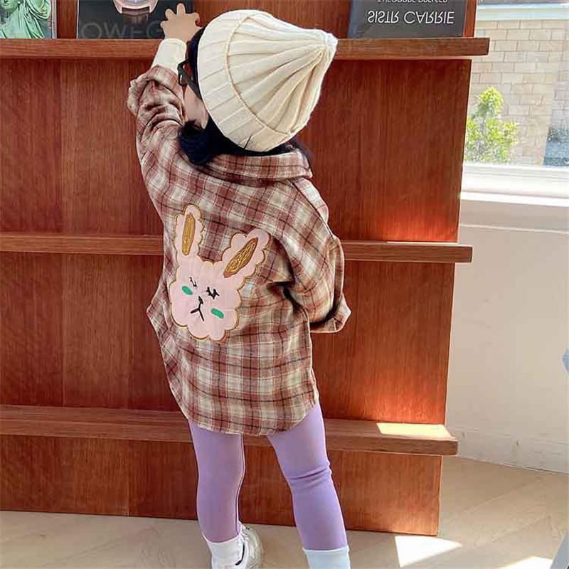 الفتيات بابيس الاطفال بلوزة سترة أبلى 2022 منقوشة ربيع الخريف أعلى قمصان طويلة الأكمام القطن الأميرة الأطفال الملابس