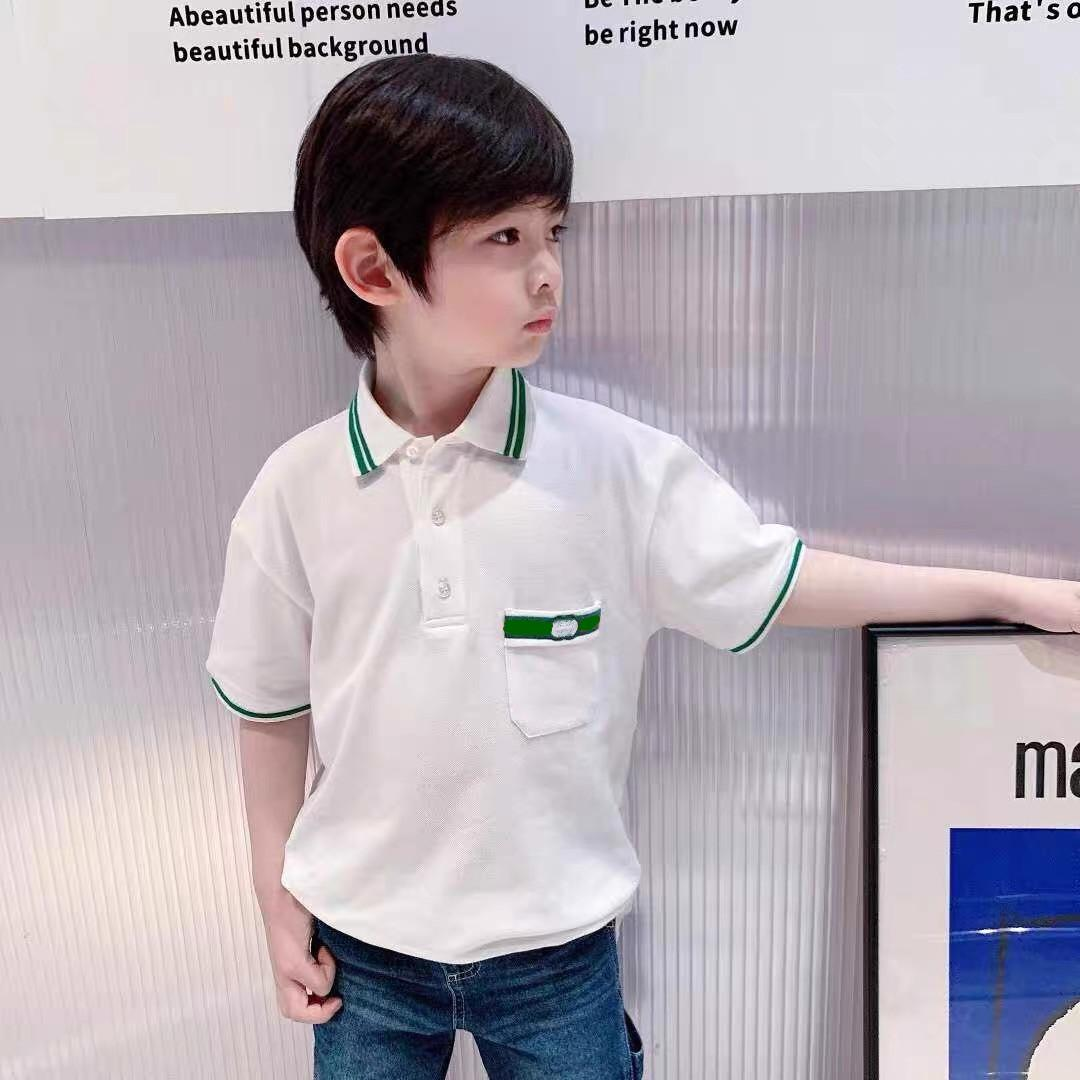Summer Kids Boys Polo Clothes Cotton Short Sleeve T Shirt Turn Down Collar Sport Polos Baby Boys Outfits Tops