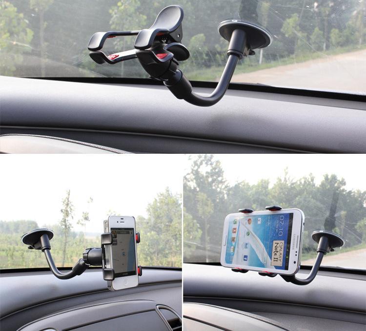 Livre DHL 360 graus braço longo carro universal tube macio suporte suporte para iphone 6 iphone6 note4 telefones celulares