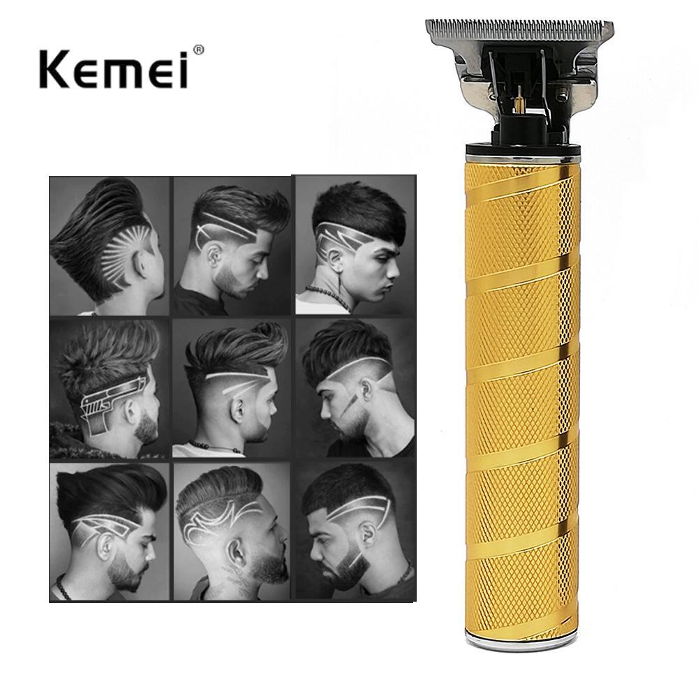 В наличии Kemei KM-T9 Pro Li T-Outliner Скелет Тяжелый Hitter Беспроводные триммеры Мужчины Baldheaded Hair Clipper Отделка T9 Машина