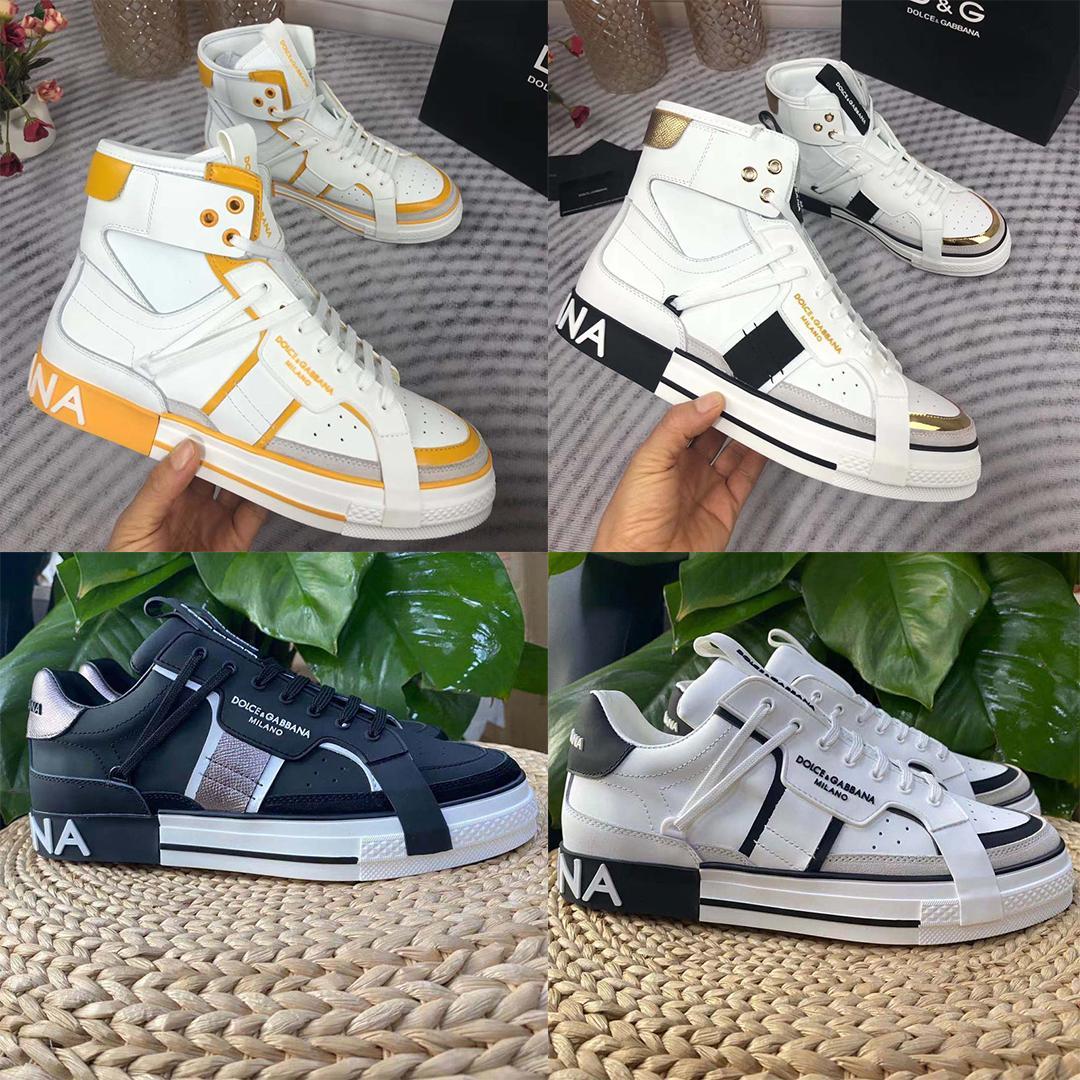 Con scatola casual scarpe da sneaker di alta qualità reali moda in pelle fatta a mano multi colore gradiente scarpe da ginnastica tecniche uomini donne famose scarpe da ginnastica 01