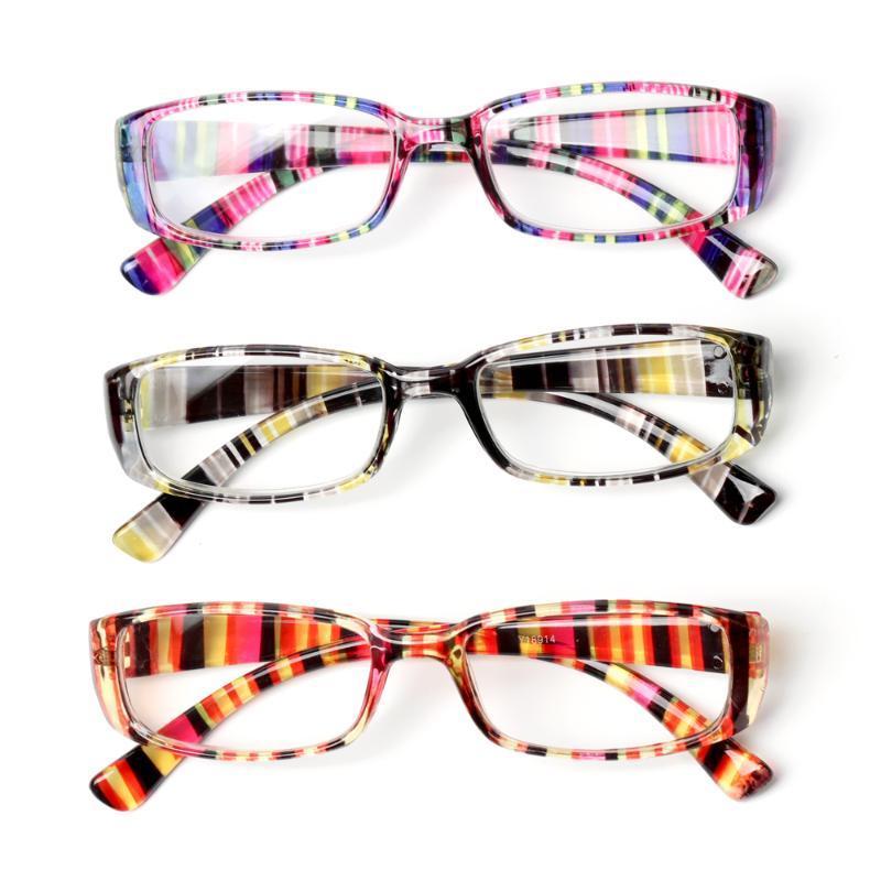 Mode Sonnenbrillenrahmen Retro Drucken Lesebrille Frauen Männer Tragbare High-Definition Presbyopische Linsenlupe Eyewear Diopter + 1,0 ~ + 4.0