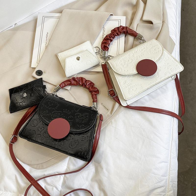 Sac à bandoulière unique Fashion Femme 2021 Nouvelle chaîne Messenger Net Rouge Portable Petite Square 96A1