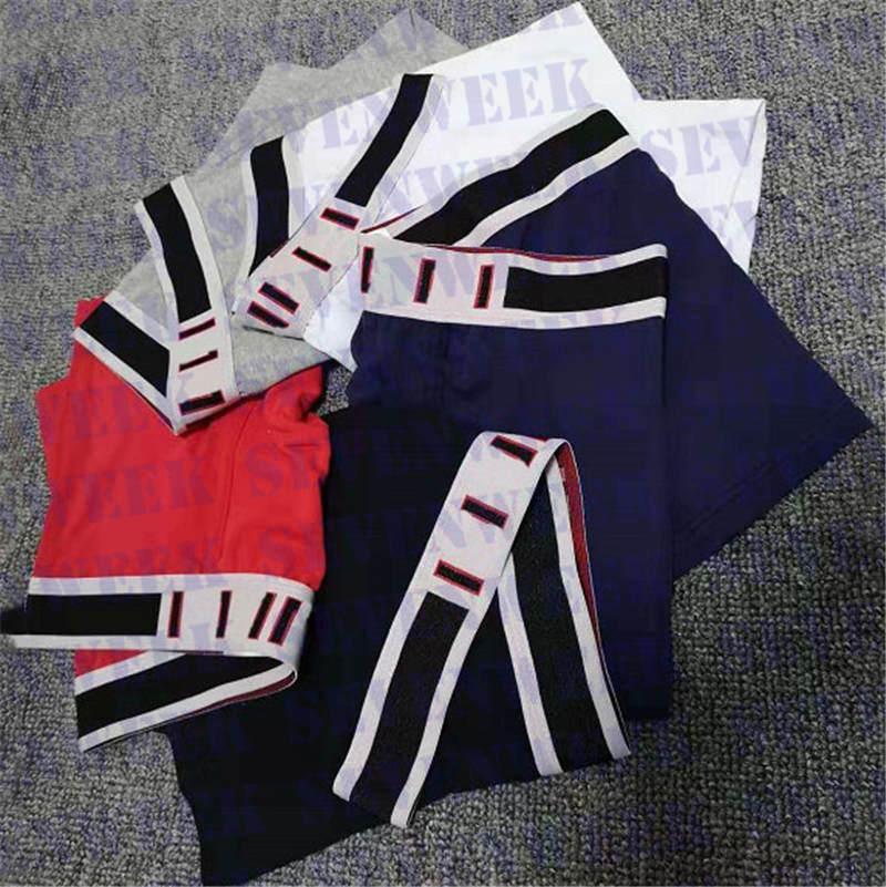 Marée Marque Hommes Sexy Boxers Slips Lettre Designer Male Sous-espeubles Coton Shorts Sous-vêtement