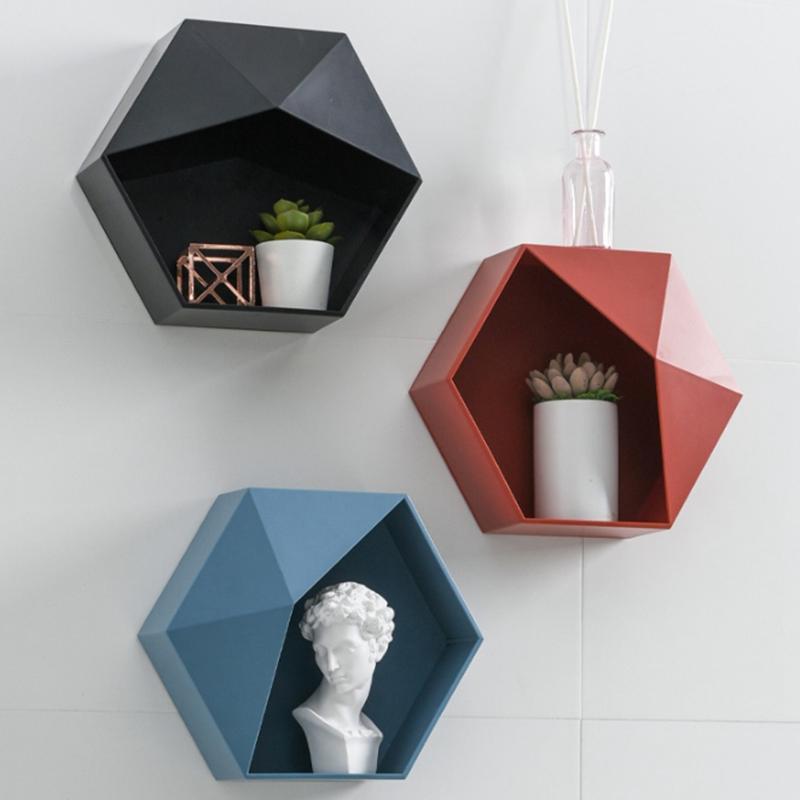 Стеллаж для хранения в форме живущая комната настенный геометрический узор на стене украшения стены дома ванная комната полка другой декор