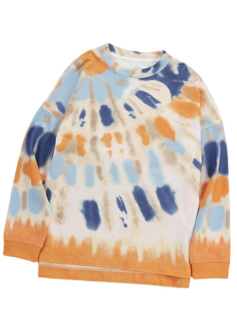 Sweater 2021 Motif léopard en vrac Épicage Épicage à manches longues Pull à manches rondes