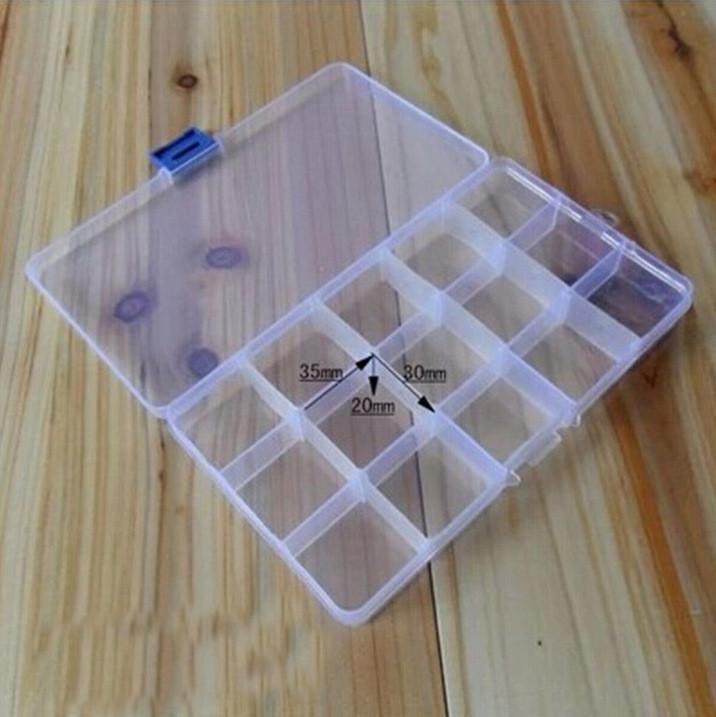 Compartimentos caja de almacenamiento caja transparente pesca señuelo cuchara guanceo accesorio de aparejos # T1P Accesorios