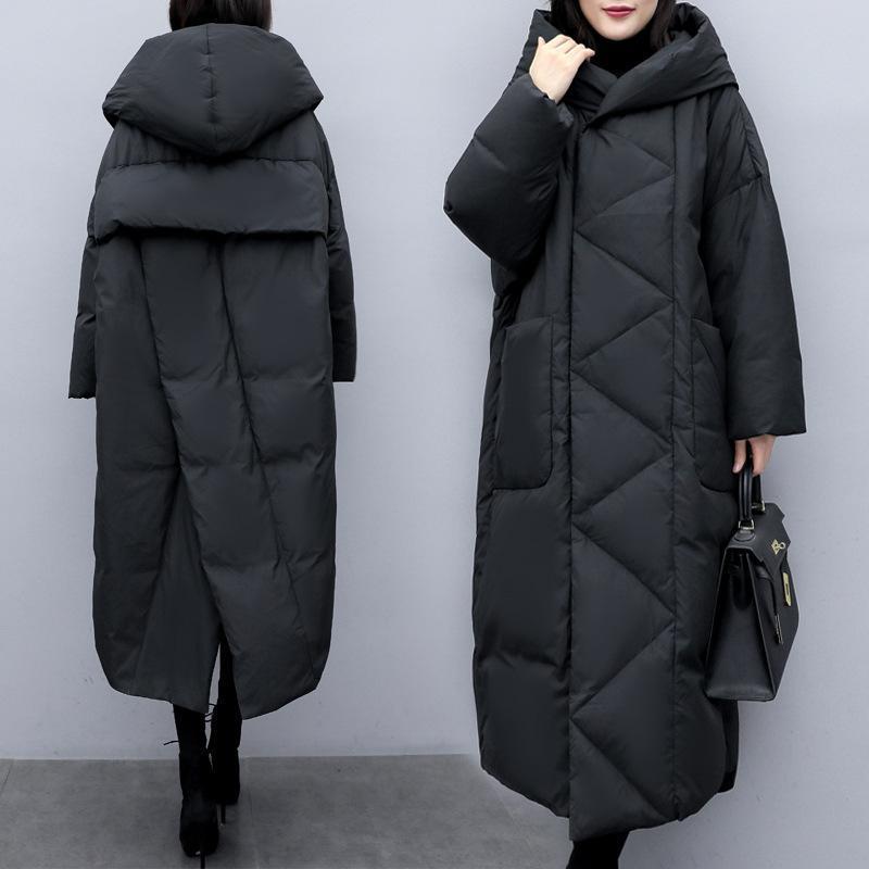 플러스 사이즈 두꺼운 따뜻한 한국어 캐주얼 한국어 캐주얼로 느슨한 파카 가을 긴 겨울 코트 여성 의류 코튼 패딩 자켓 여성 탑스 여성 공원