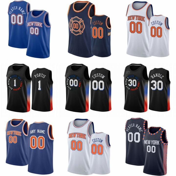 Özel OBI 1 Toppin Julius 30 Randle Basketbol Jersey RJ 9 Barrett Mitchell 23 Robinson Derrick New YorkKnicksMens Rose Immanuel 5 Quickley Elfrid 6 Payton