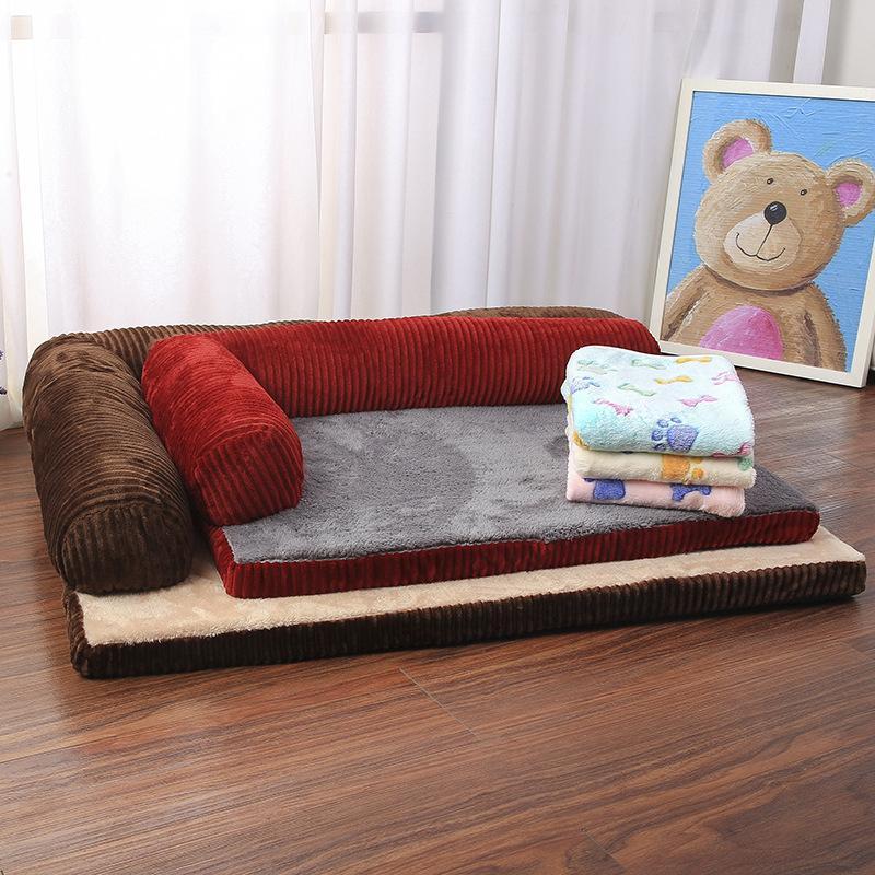LUSSO LETTORE DOGGIA DOGGIA DI DIVANO Dog Cat Pet Cushion Mat per grandi cani a forma di chaise longue a forma di divano Pet Letti per animali domestici 1965 V2