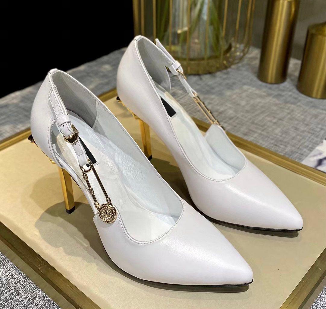Saltos altos So Kate Stilettos Mulheres 10 cm de couro apontado raso mocassins luz luminosa sapatos de borracha tamanho 35 a 41