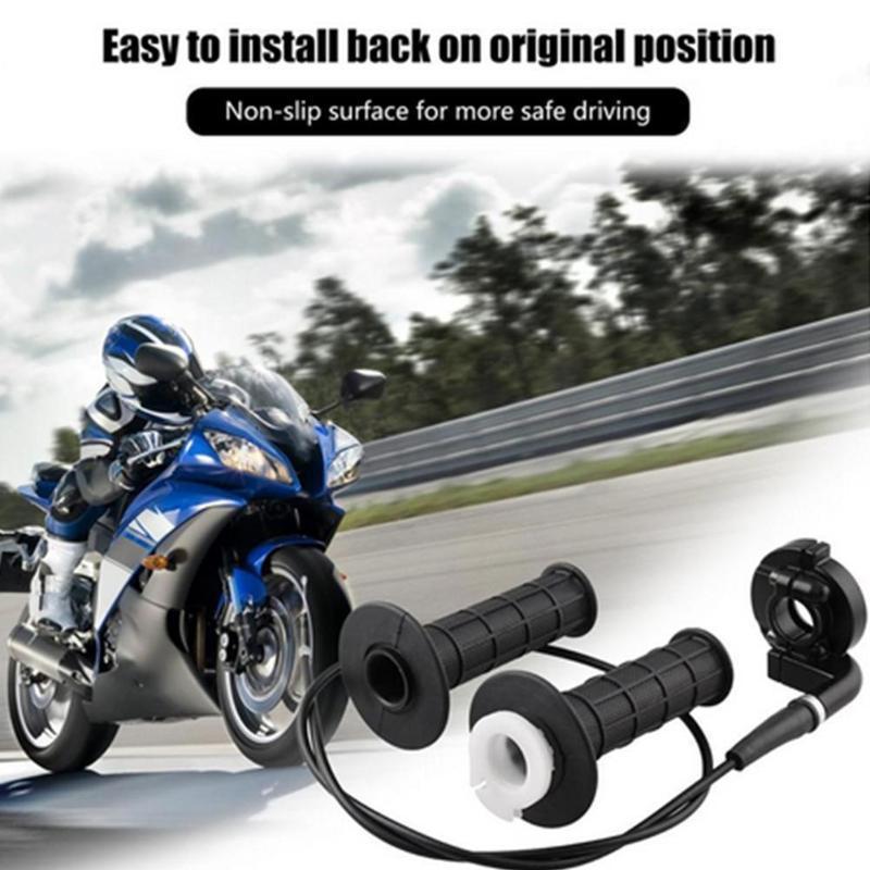 """Réglage de la barre de moto de 7/8 """"22mm Set de remplacement de la pince universelle Pince à accélérateur Poignée d'accélérateur avec accès R2S7 guidon"""