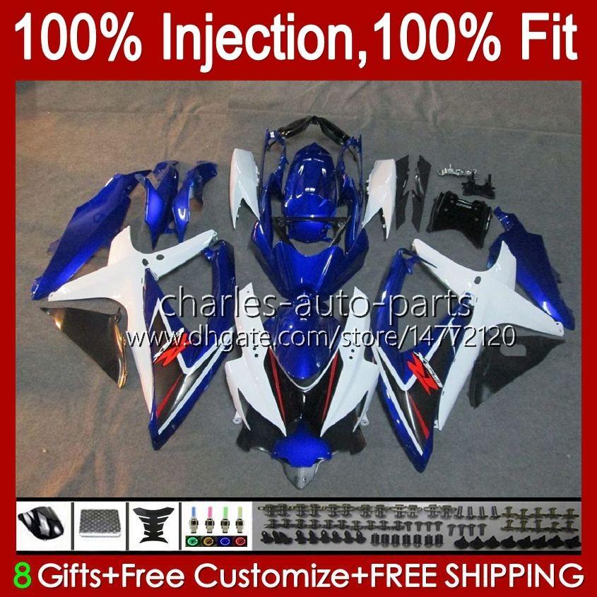 Injectievorm voor Suzuki GSXR600 K8 GSX-R750 GSXR-600 GSXR-750 GSXR750 Factory Blue Carrosserie 9HC.60 GSX-R600 2008 2009 2010 GSXR 600 750 CC 600CC 750CC 08 09 10 Kuip