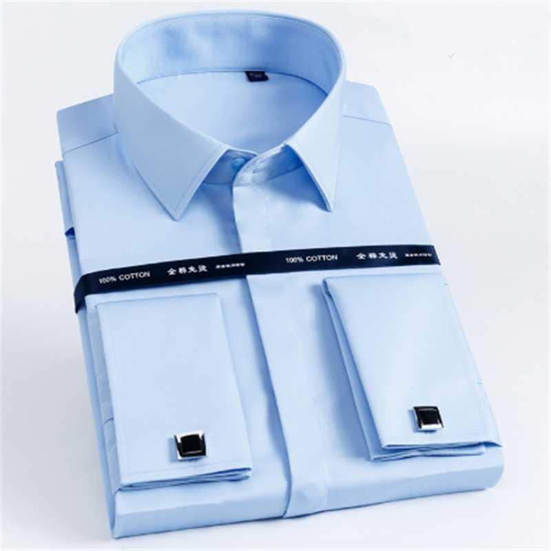 Men's Cotton Business Long Sleeve Shirt Blusas Blouse Camisa Masculina Bluzki Bluzka Koszula Social Chemise Longue Summer Dress Shirts