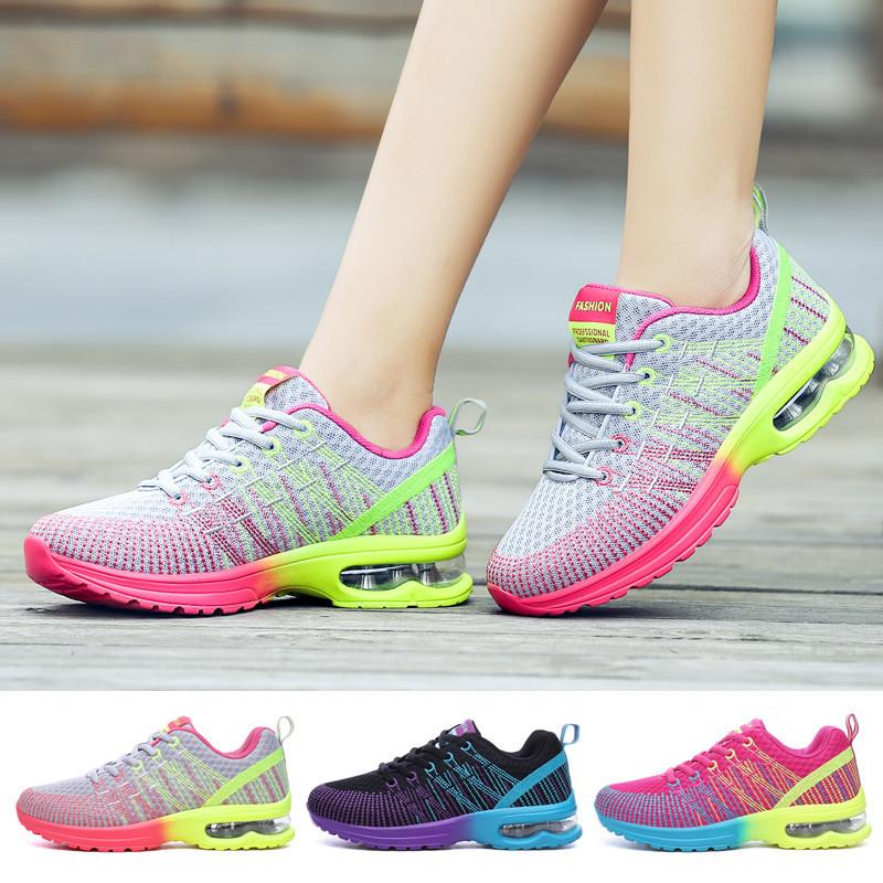 Running shoes Sports Walking Women Outdoor Breathing Comfortable Lightweight Athletic Mesh Sneakers 0913