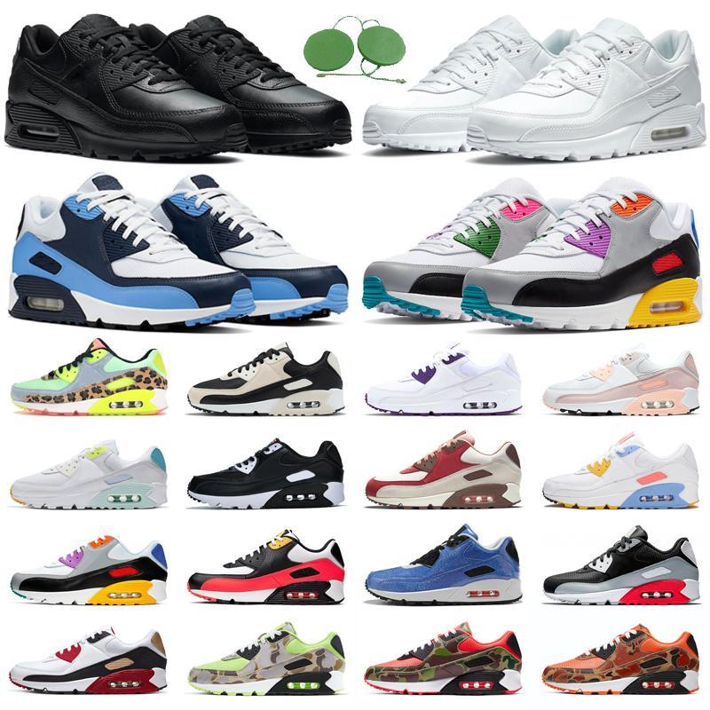 90 90s Koşu Ayakkabıları Erkek Kadın ABD Camo Yeşil Turuncu Soğuk Gri Mixtape Beyaz Siyah Kızılötesi UNC Viotech Mor erkekler açık hava spor ayakkabı